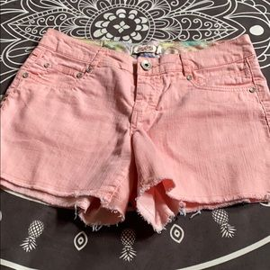 Coral Pink Cut Off Shorts